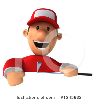 Golfer Toon Guy Clipart #1245882 by Julos