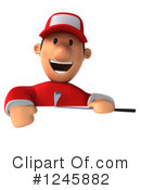 Golfer Clipart #1245882 by Julos