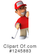 Golfer Clipart #1245883 by Julos