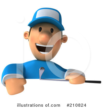 Golfer Toon Guy Clipart #210824 by Julos