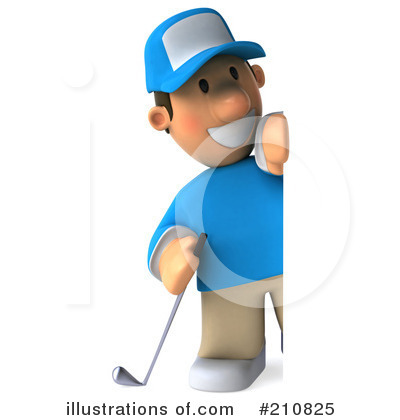 Golfer Toon Guy Clipart #210825 by Julos