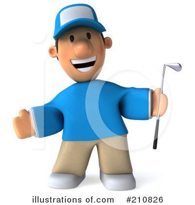 Golfer Toon Guy Clipart #210826 by Julos
