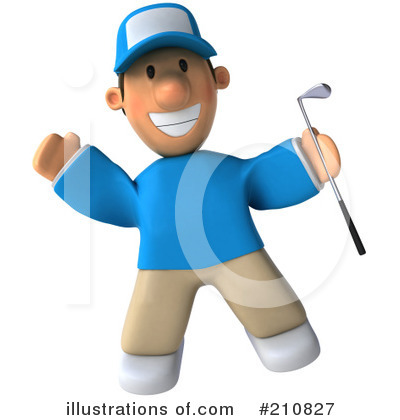 Golfer Toon Guy Clipart #210827 by Julos