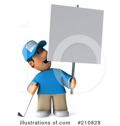Golfer Toon Guy Clipart #210828 by Julos