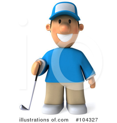 Royalty-Free (RF) Golfer Toon Guy Clipart Illustration by Julos - Stock Sample #104327