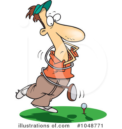 Golfing Clipart #1048771 by toonaday