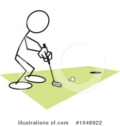 Golfing Clipart #1048922 by Johnny Sajem