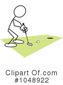Royalty-Free (RF) Golfing Clipart Illustration #1048922