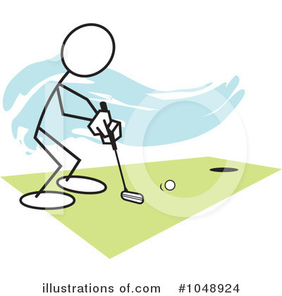 Royalty-Free (RF) Golfing Clipart Illustration by Johnny Sajem - Stock Sample #1048924