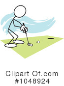 Royalty-Free (RF) Golfing Clipart Illustration #1048924