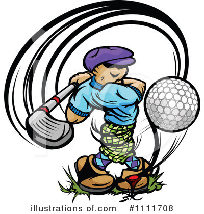 Golfing Clipart #1111708 by Chromaco