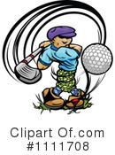 Royalty-Free (RF) golfing Clipart Illustration #1111708