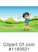 Golfing Clipart #1183521 by Graphics RF