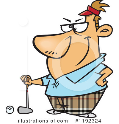 Golfing Clipart #1192324 by toonaday