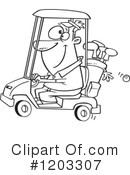 Golfing Clipart #1203307 by toonaday