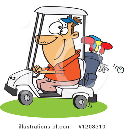 Golfing Clipart #1203310 by toonaday