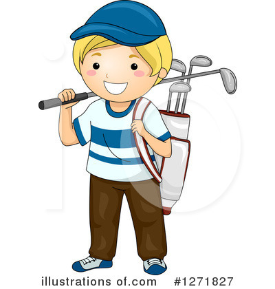 Golf Bag Clipart #1271827 by BNP Design Studio