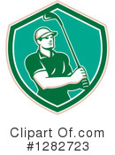 Golfing Clipart #1282723 by patrimonio