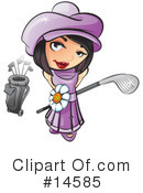 Royalty-Free (RF) Golfing Clipart Illustration #14585