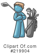 Golfing Clipart #219904 by Leo Blanchette
