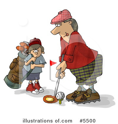 Royalty-Free (RF) Golfing Clipart Illustration by djart - Stock Sample #5500