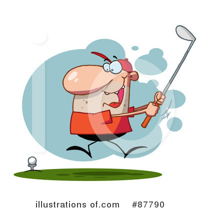 Royalty-Free (RF) Golfing Clipart Illustration by Hit Toon - Stock Sample #87790