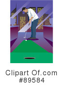 Royalty-Free (RF) Golfing Clipart Illustration #89584