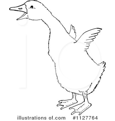 Royalty-Free (RF) Goose Clipart Illustration by Picsburg - Stock Sample #1127764