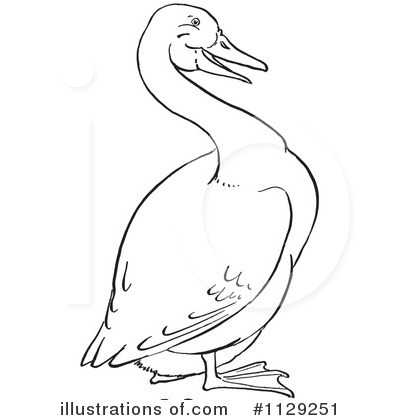 Royalty-Free (RF) Goose Clipart Illustration by Picsburg - Stock Sample #1129251