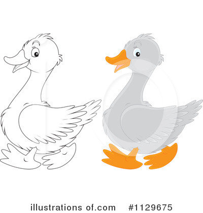 Goose Clipart #1129675 by Alex Bannykh