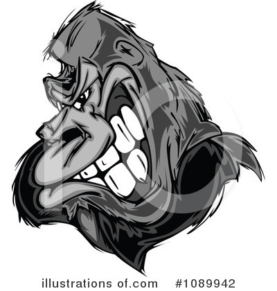 Gorilla Clipart #1089942 by Chromaco