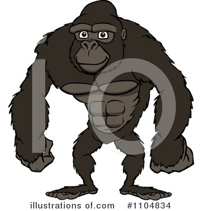 Gorilla Clipart #1104834 by Cartoon Solutions