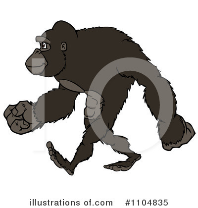 Gorilla Clipart #1104835 by Cartoon Solutions