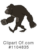 Royalty-Free (RF) Gorilla Clipart Illustration #1104835