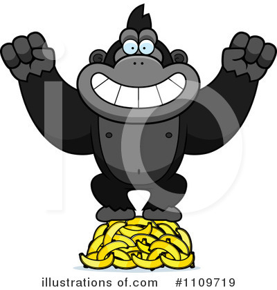 Gorilla Clipart #1109719 by Cory Thoman
