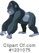 Royalty-Free (RF) Gorilla Clipart Illustration #1231075