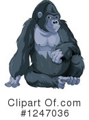 Royalty-Free (RF) Gorilla Clipart Illustration #1247036