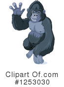 Royalty-Free (RF) Gorilla Clipart Illustration #1253030