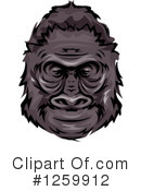 Gorilla Clipart #1259912 by BNP Design Studio
