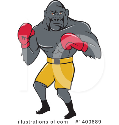 Boxing Clipart #1400889 by patrimonio