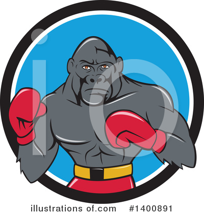 Boxing Clipart #1400891 by patrimonio