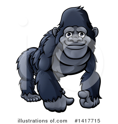 Primate Clipart #1417715 by AtStockIllustration