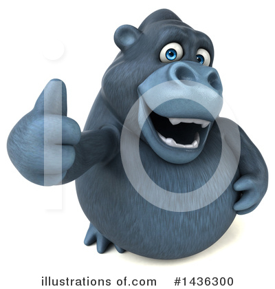 Royalty-Free (RF) Gorilla Clipart Illustration by Julos - Stock Sample #1436300
