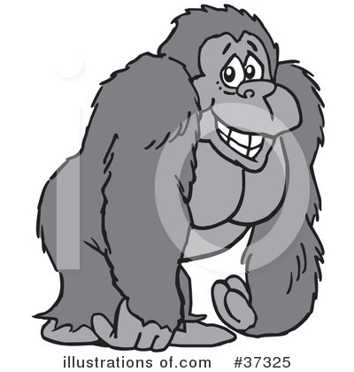 gorilla clipart 37325 illustration by johnny sajem rh illustrationsof com gorilla clipart black and white free gorilla clipart black and white