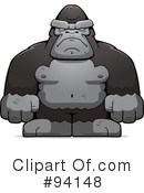 Royalty-Free (RF) Gorilla Clipart Illustration #94148