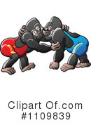 Gorillas Clipart #1109839 by Zooco