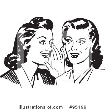 Royalty-Free (RF) Gossip Clipart Illustration by BestVector - Stock Sample #95199