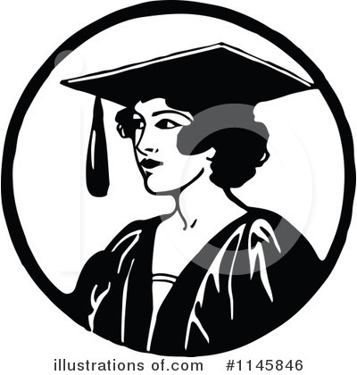 Royalty-Free (RF) Graduate Clipart Illustration by Prawny Vintage - Stock Sample #1145846