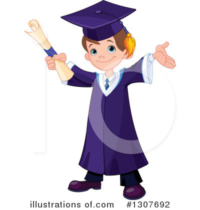 Graduate Clipart #1307692 by Pushkin