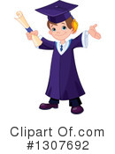 Royalty-Free (RF) Graduate Clipart Illustration #1307692